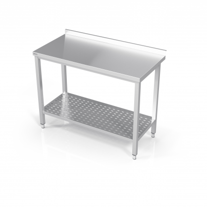 Table With Perforated Shelf