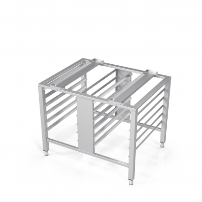 Universal Stand for Convection Oven With Guide Rails for 12 GN-1/1 Trays