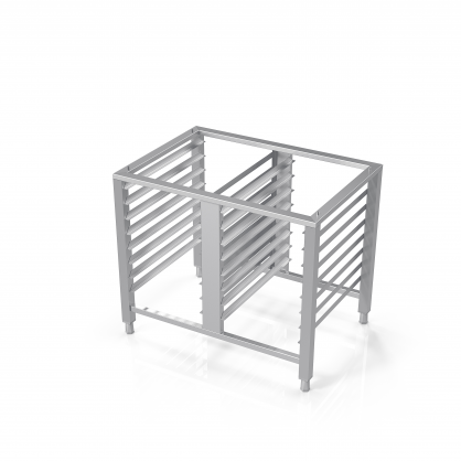 Universal Stand for Convection Oven With Guide Rails for 16 GN-1/1 Trays