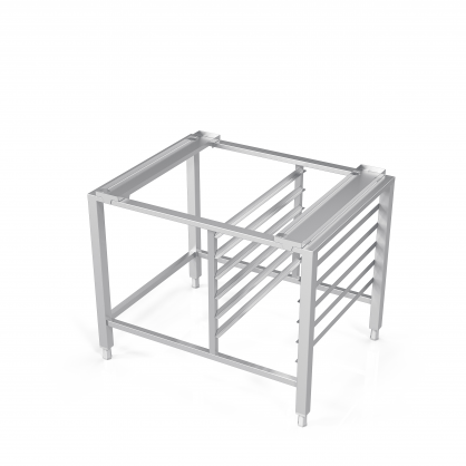 Universal Stand for Convection Oven With Guide Rails for 6 GN-1/1 Trays