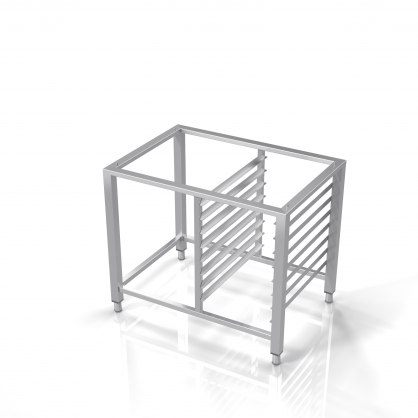 Universal Stand for Convection Oven With Guide Rails for 8 GN-1/1 Trays