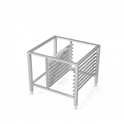 Stand for Convection Oven With Guide Rails for 8 Baking Trays