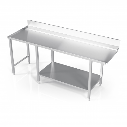 Table to Dishwasher With Reinforced Shelf and Place for Unit