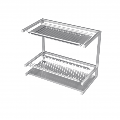 Dish Drying Wall Shelf Double With Drip Tray
