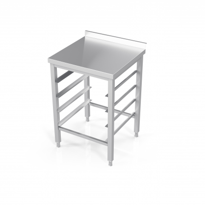 Table With Guides for Dishwasher Baskets
