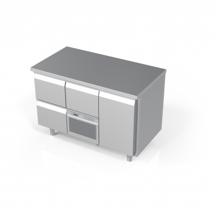 Cooling Counter with 3 Drawers and 1 Door, -5 ... +8 °C