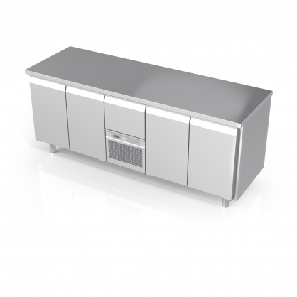 Cooling Counter with 4 Doors, -5 ... +8 °C