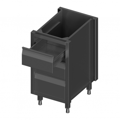 Module With 3 Plain Drawers